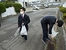 ボランティア清掃の様子