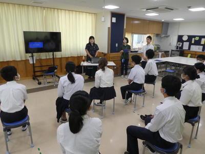 非行・薬物乱用防止教室1